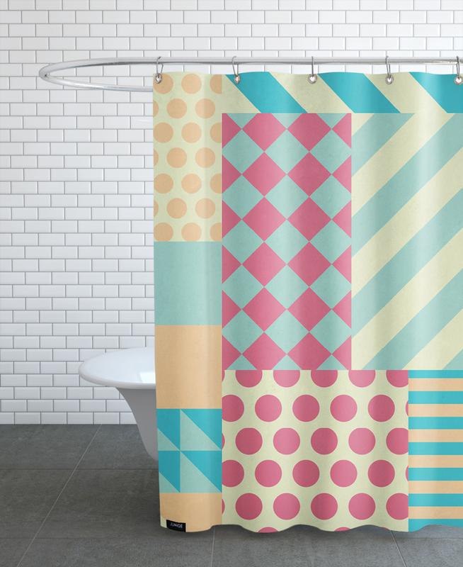 Vintage Patchwork Shower Curtain