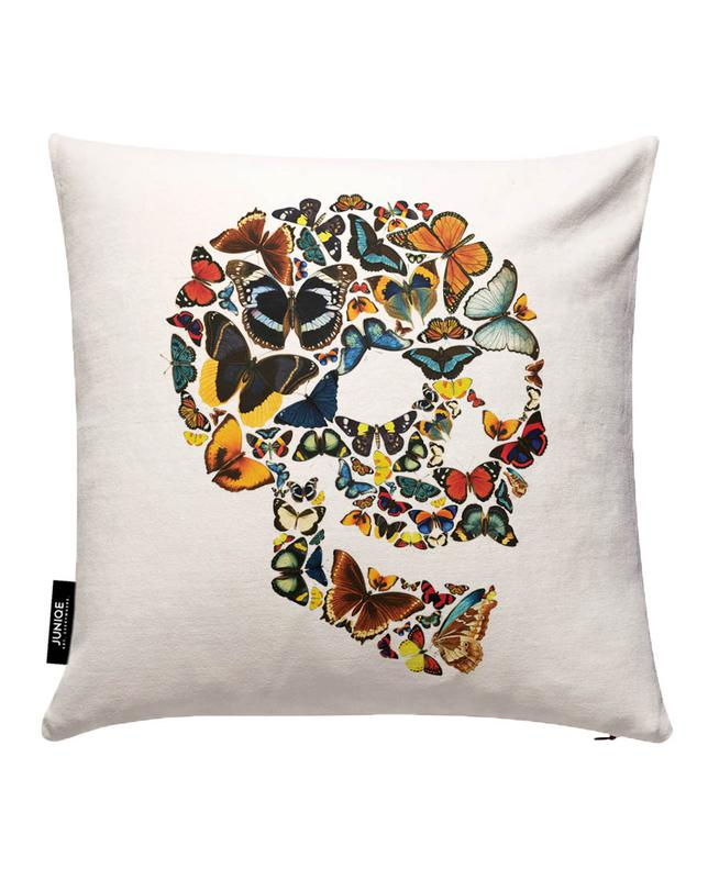 Butterfly Skull Vintage Cushion Cover