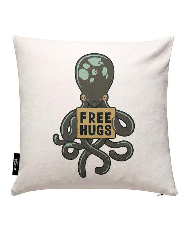 Free Hugs Octopus Kissenbezug