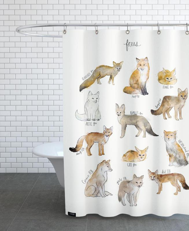 Foxes, Nursery & Art for Kids, Foxes Shower Curtain