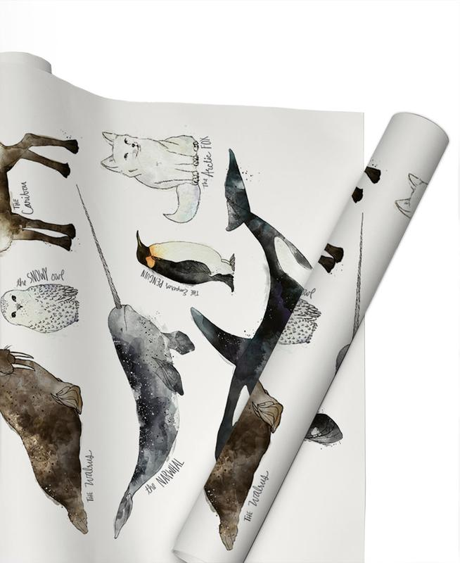 Arctic and Antarctic Animals Gift Wrap