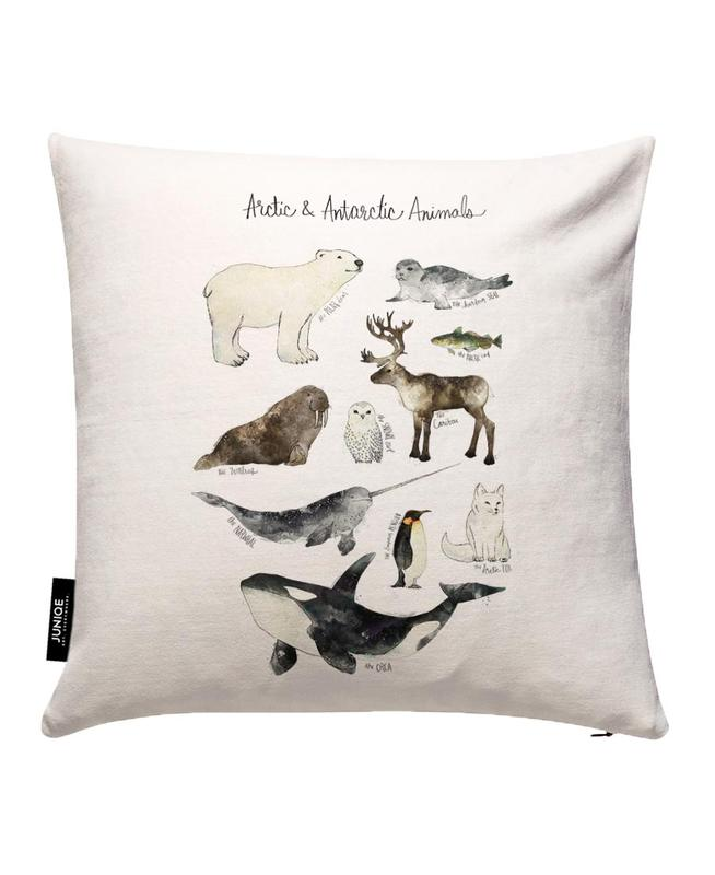 Arctic and Antarctic Animals Cushion Cover