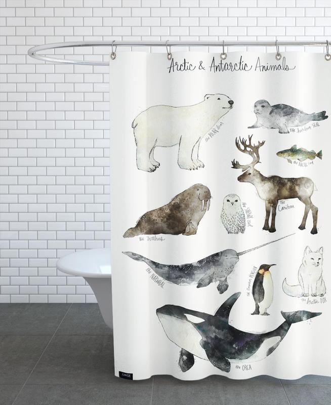 Arctic and Antarctic Animals Shower Curtain