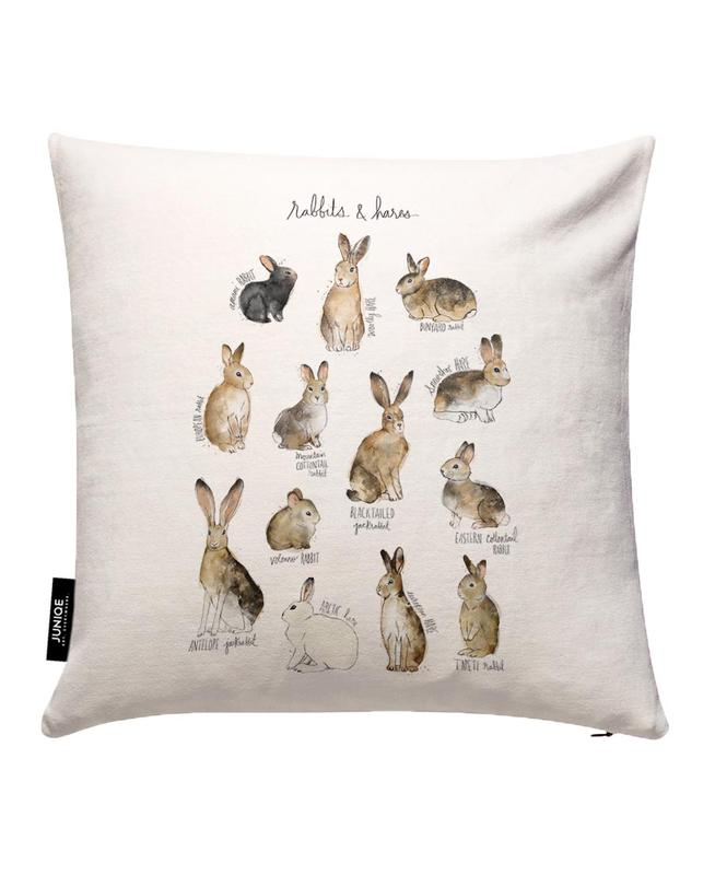 Rabbits and Hares Cushion Cover