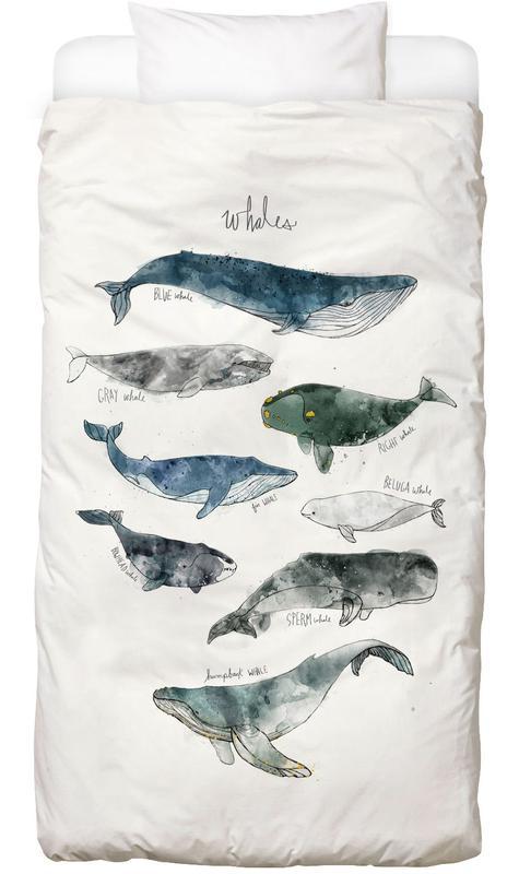 Whales housse de couette enfant