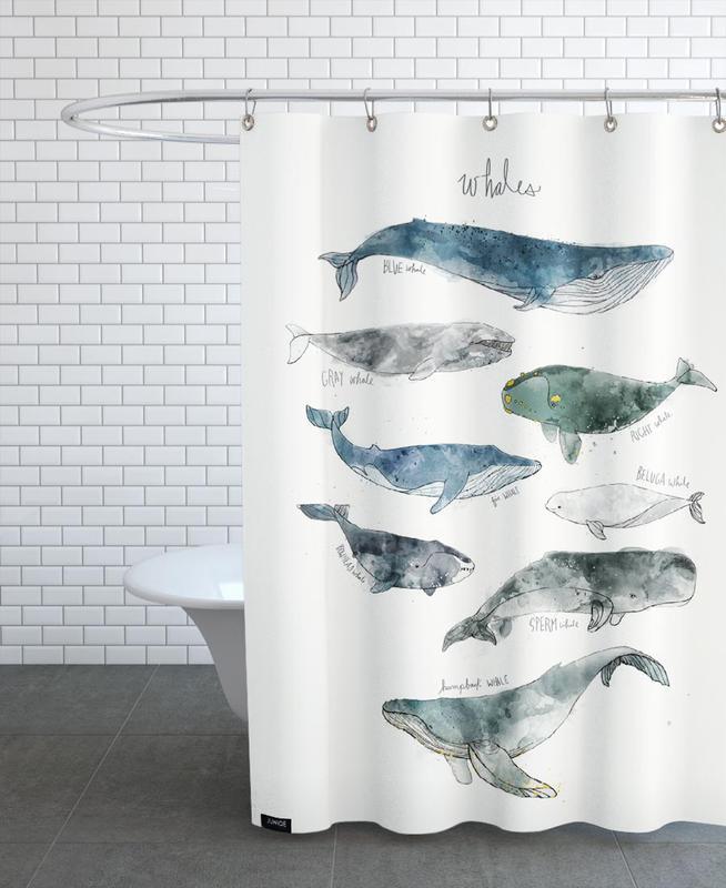 Whales rideau de douche