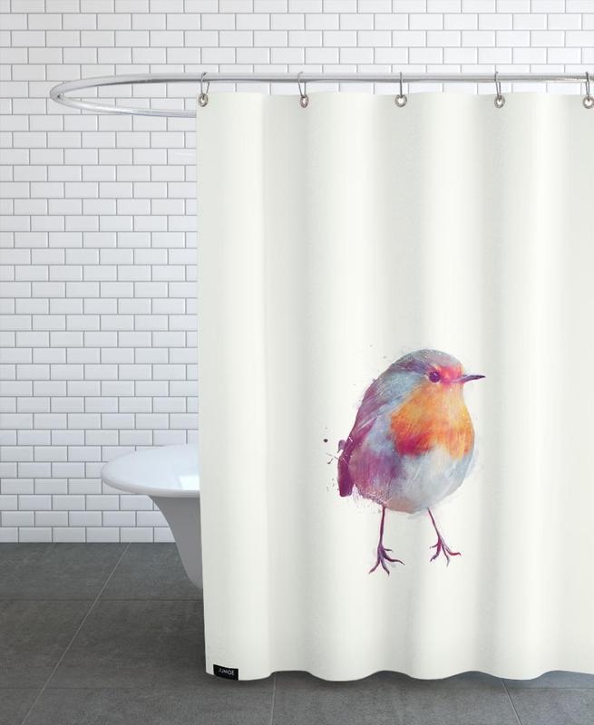 Winter Robin Shower Curtain