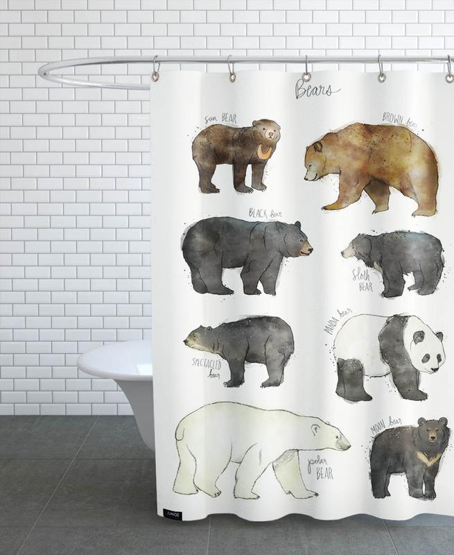 Bears, Nursery & Art for Kids, Bears Shower Curtain