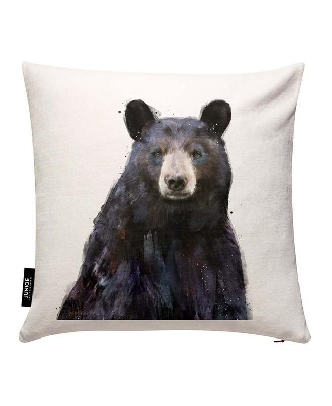 Black Bear Cushion Cover