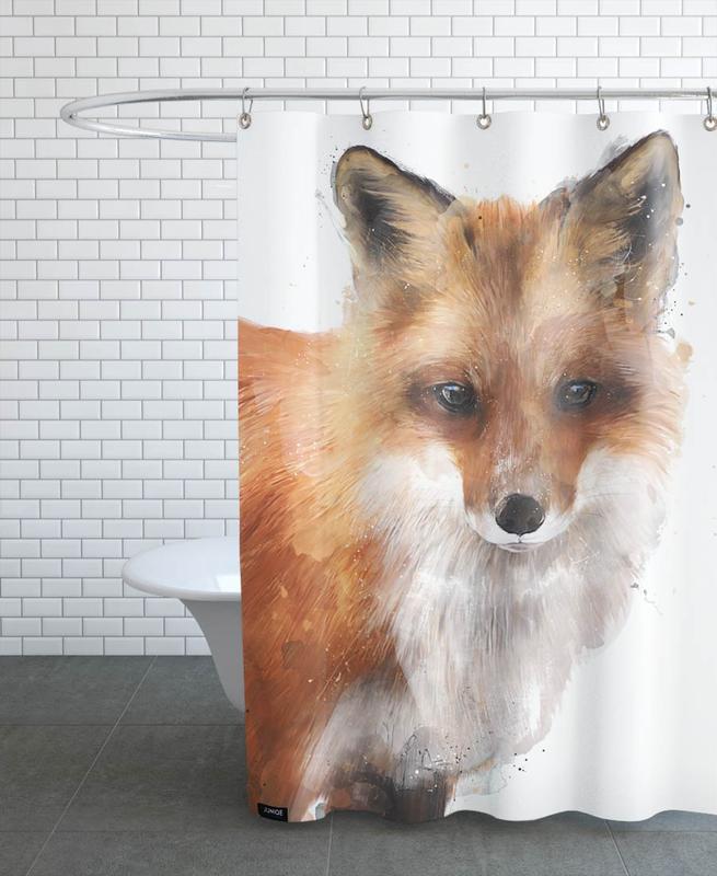 Füchse, Kinderzimmer & Kunst für Kinder, Encounter -Duschvorhang