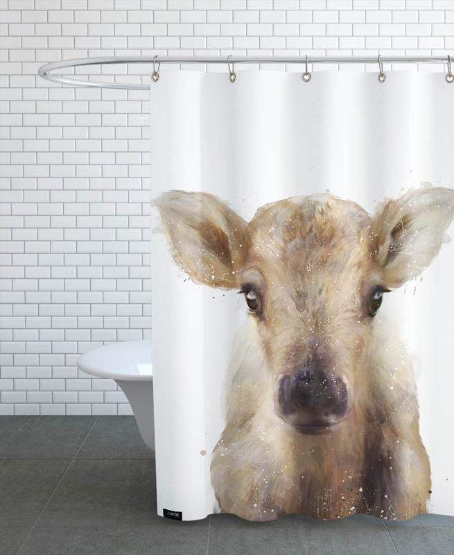 Little Reindeer Shower Curtain