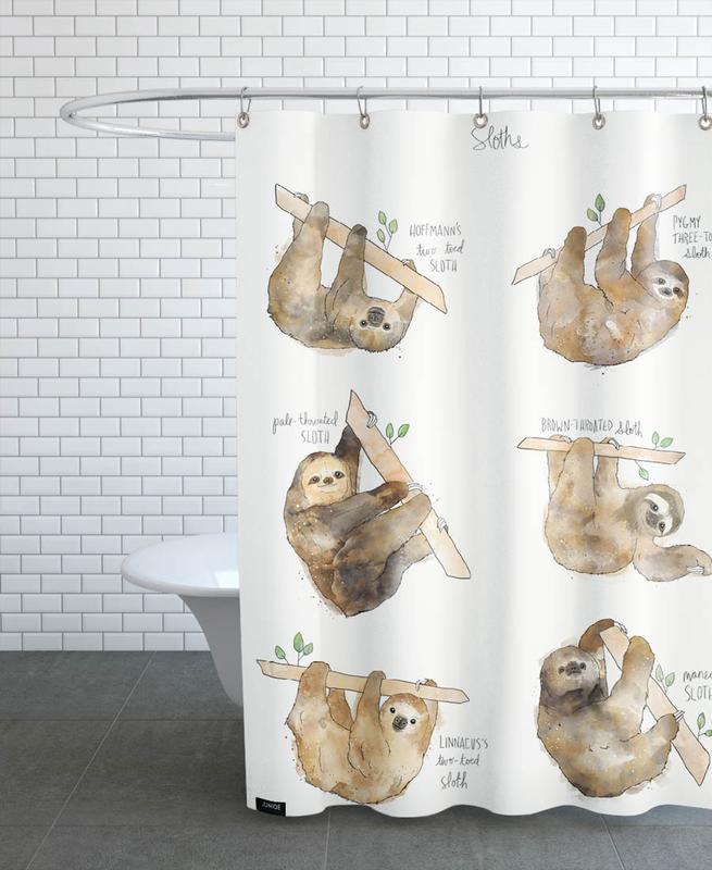 Faultiere, Kinderzimmer & Kunst für Kinder, Sloths -Duschvorhang