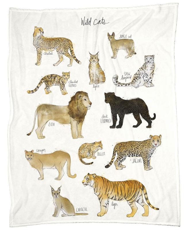 Wild Cats -Fleecedecke