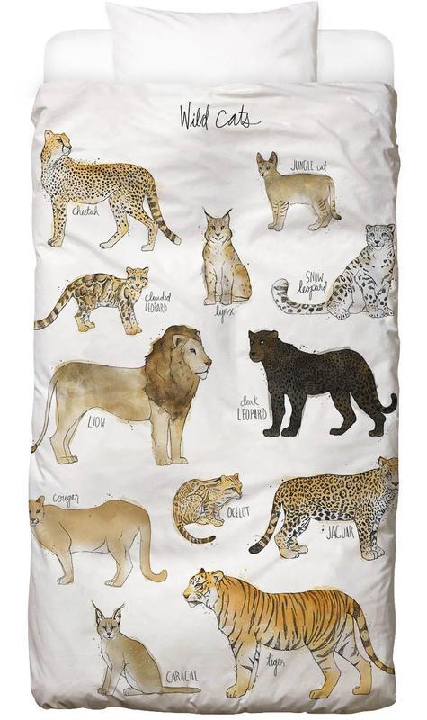 Kinderzimmer & Kunst für Kinder, Wild Cats -Kinderbettwäsche