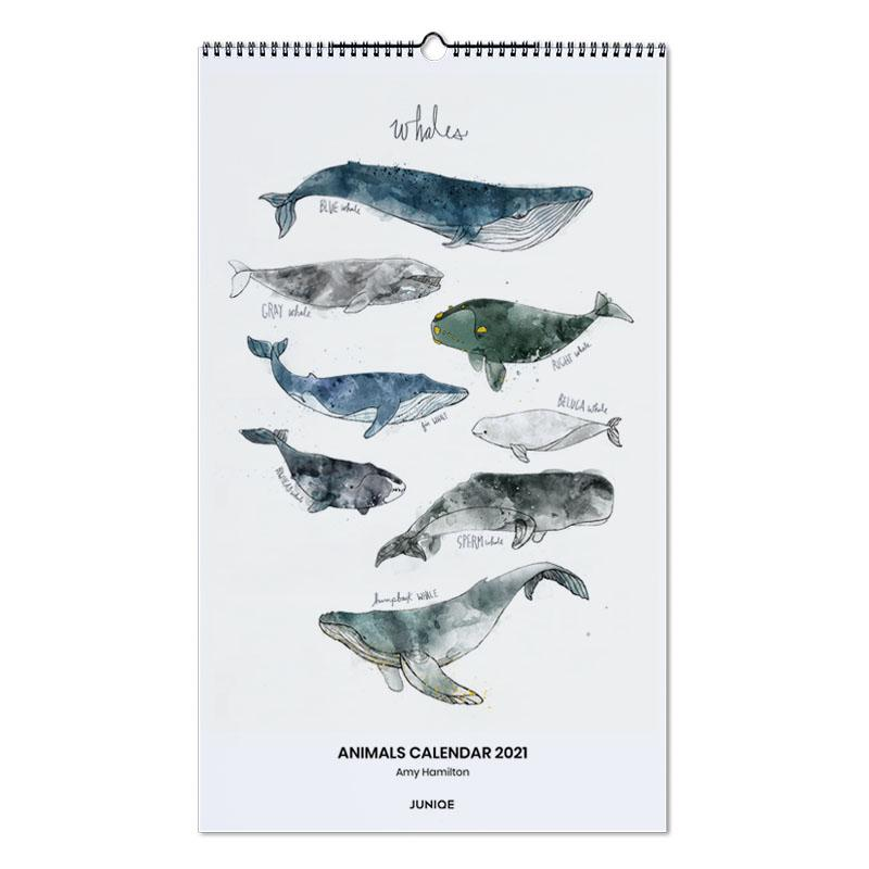 Nursery & Art for Kids, Amy Hamilton - Animals Calendar 2021 Wall Calendar
