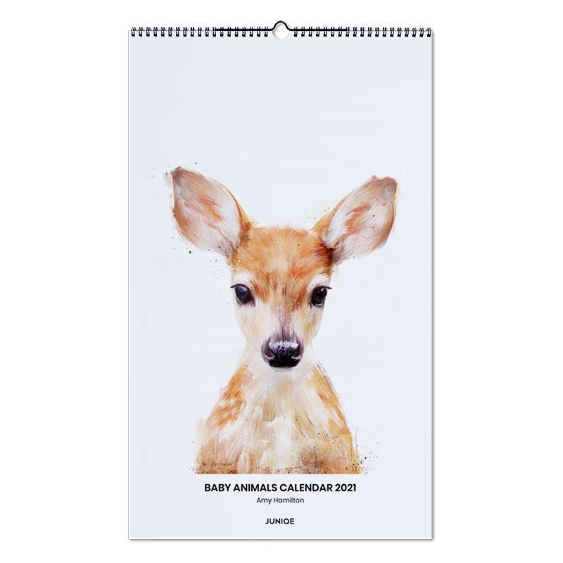 Nursery & Art for Kids, Amy Hamilton - Baby Animals Calendar 2021 Wall Calendar
