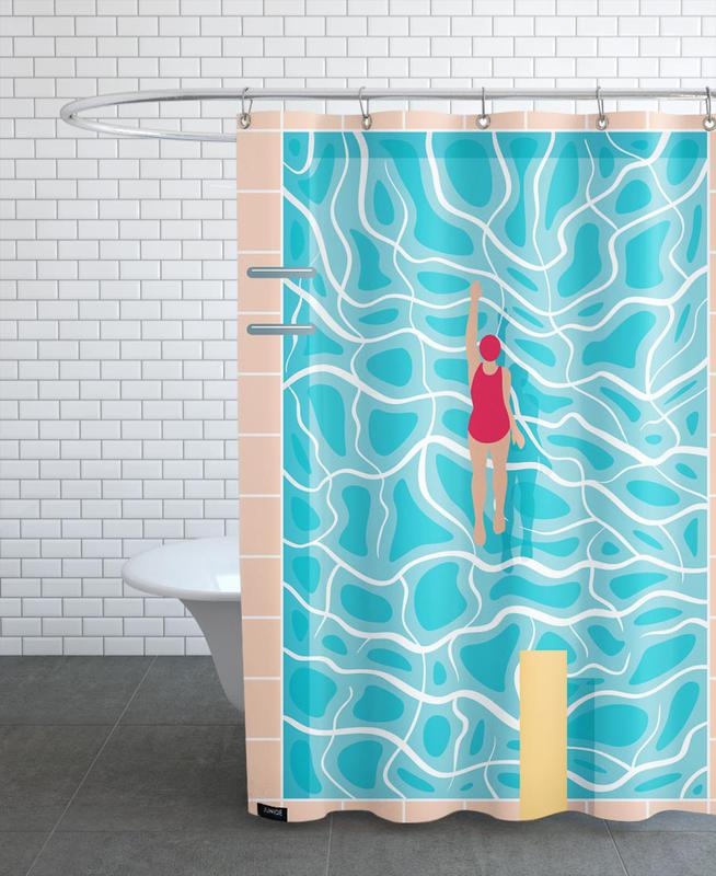 Swimming, Pool Shower Curtain