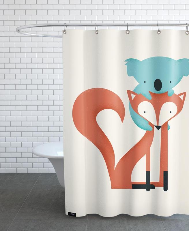 Foxes, Nursery & Art for Kids, Koalas, Fox and Koala Shower Curtain