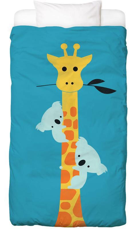 Koalas, Kinderzimmer & Kunst für Kinder, Giraffen, I'll Be Your Tree -Kinderbettwäsche
