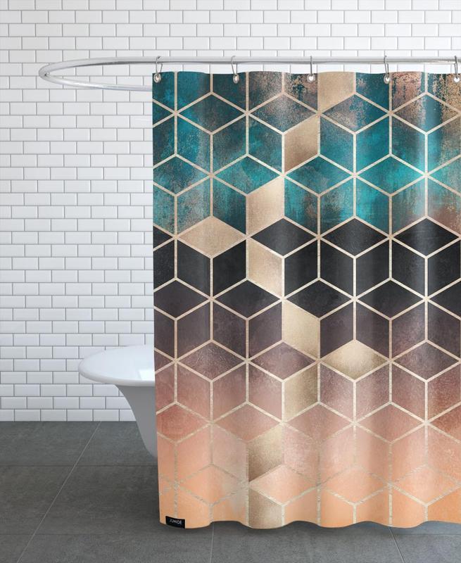 Ombre Dream Cubes -Duschvorhang