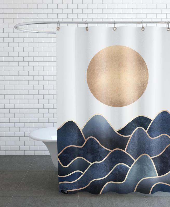 Abstrakte Landschaften, Waves -Duschvorhang