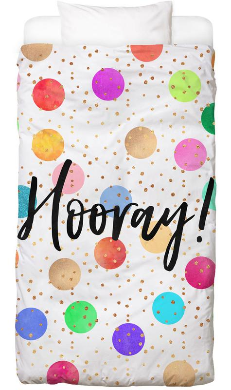 Congratulations, Motivational, Hooray Kids' Bedding