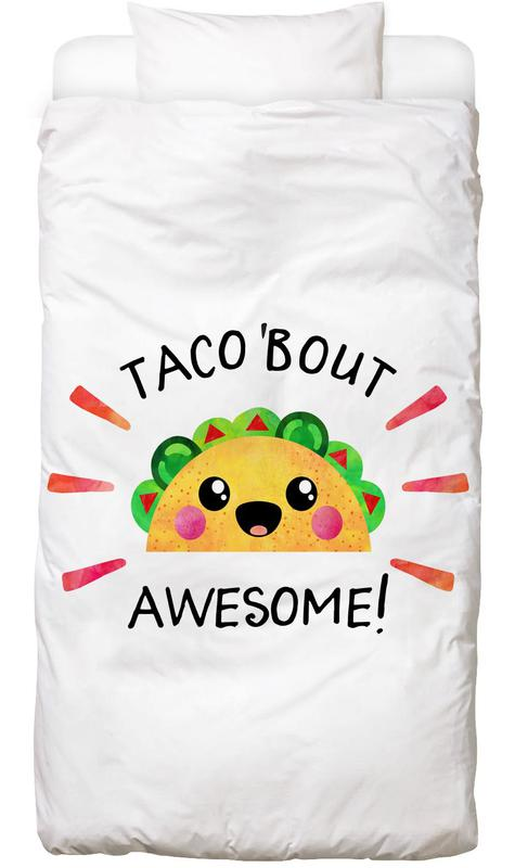 Motivational, Quotes & Slogans, Congratulations, Taco Bout Awesome Kids' Bedding