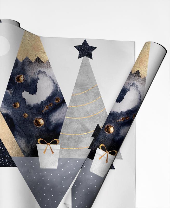 Christmas Mountains Gift Wrap