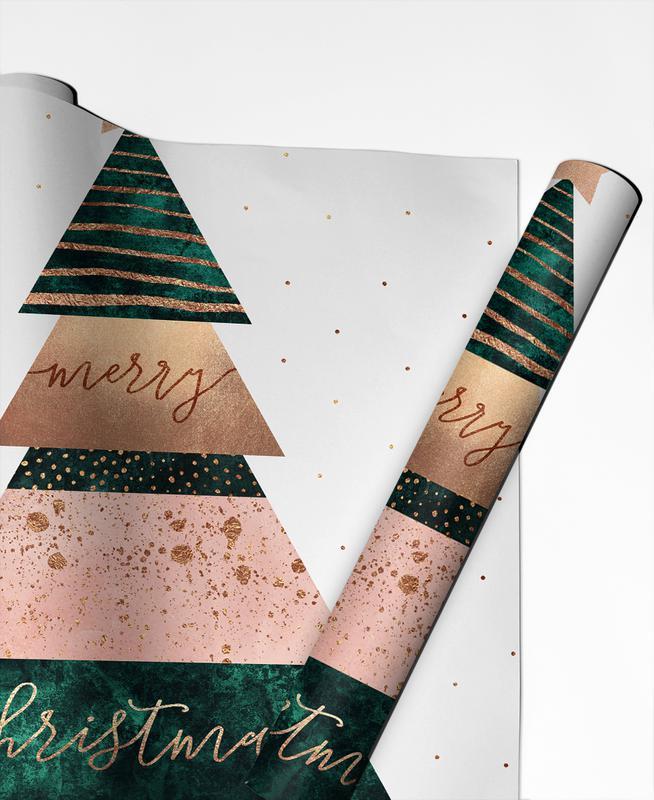 Christmas, Merry Christmas Tree Gift Wrap