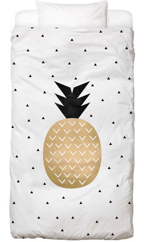 Golden Pineapple Bed Linen