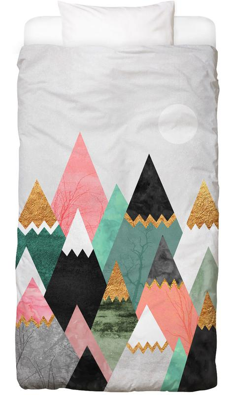 Abstract Landscapes, Pretty Mountains Kids' Bedding
