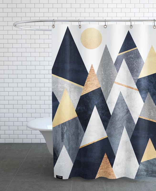 Fancy Mountains Shower Curtain