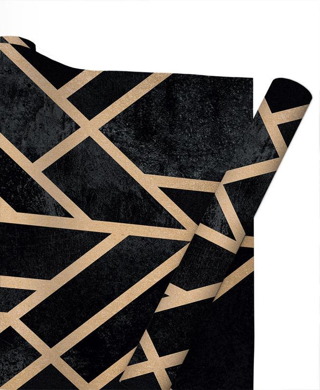 Art Deco Black -Geschenkpapier