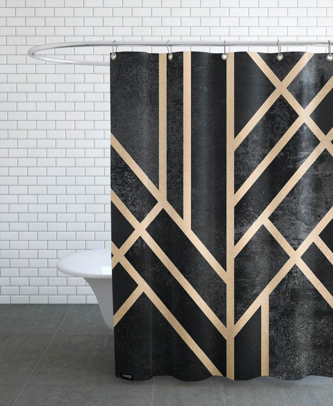 Art Deco Black -Duschvorhang