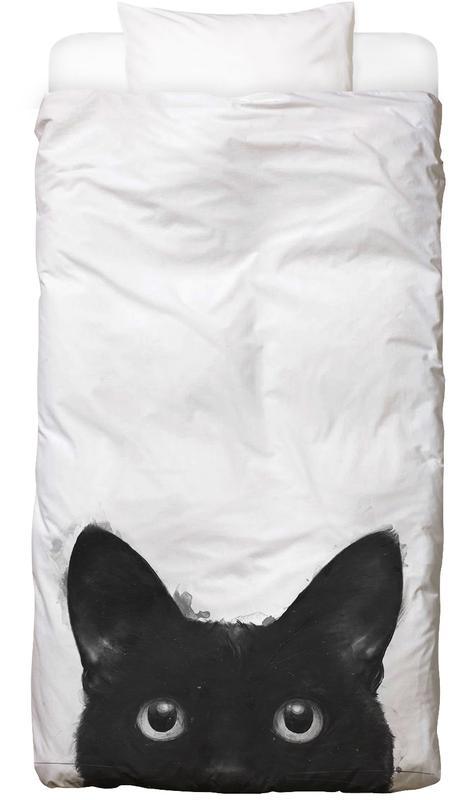 Noir & blanc, Chats, Are You Awake Yet housse de couette enfant