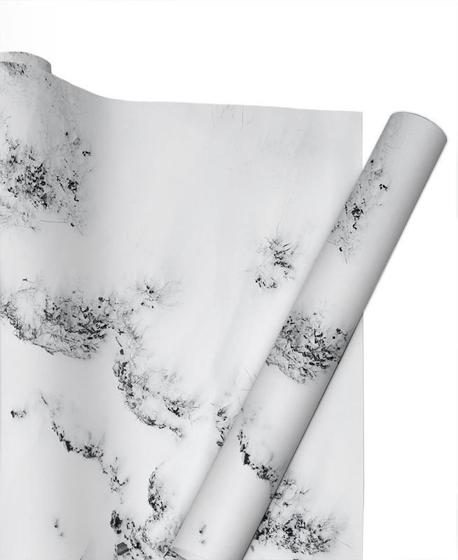 Black & White, Mountains, Waves Gift Wrap