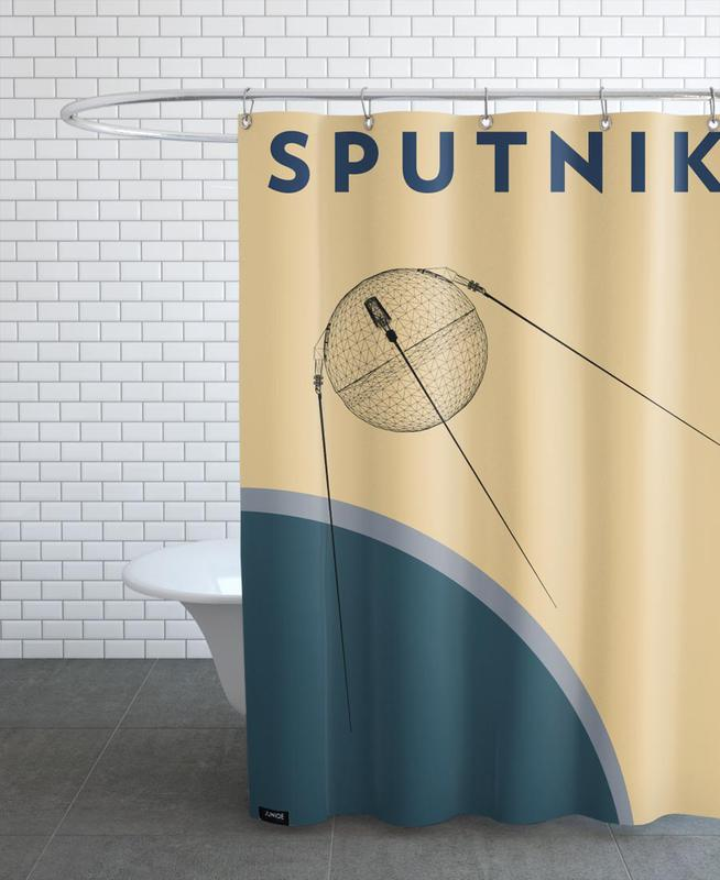 Sputnik 1 Shower Curtain