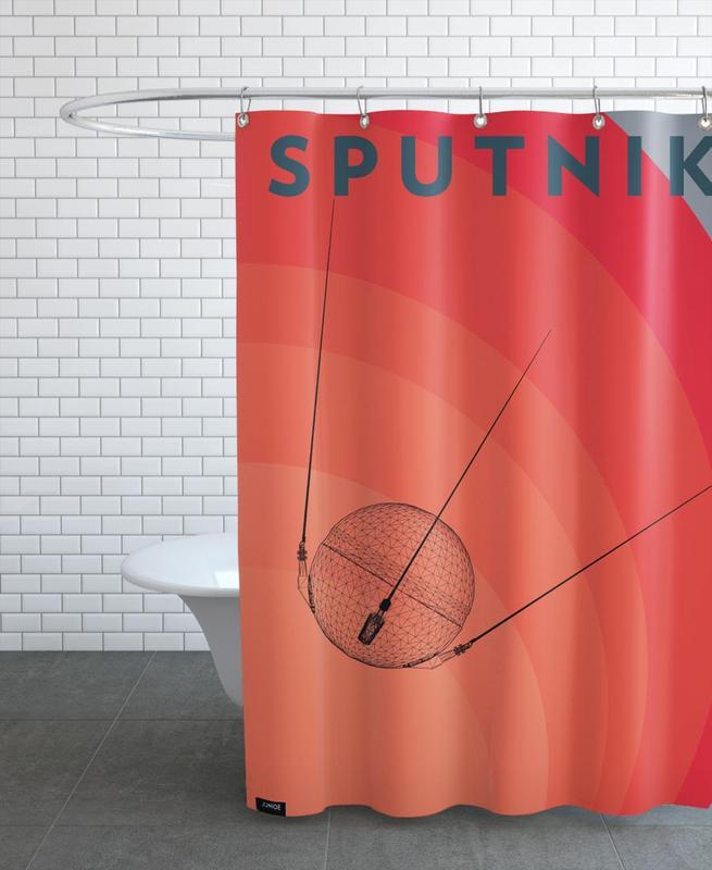 Sputnik 3 Shower Curtain