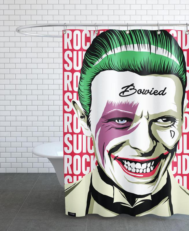 David Bowie, Pop Art, Joker, Rock'n'Roll Suicide -Duschvorhang
