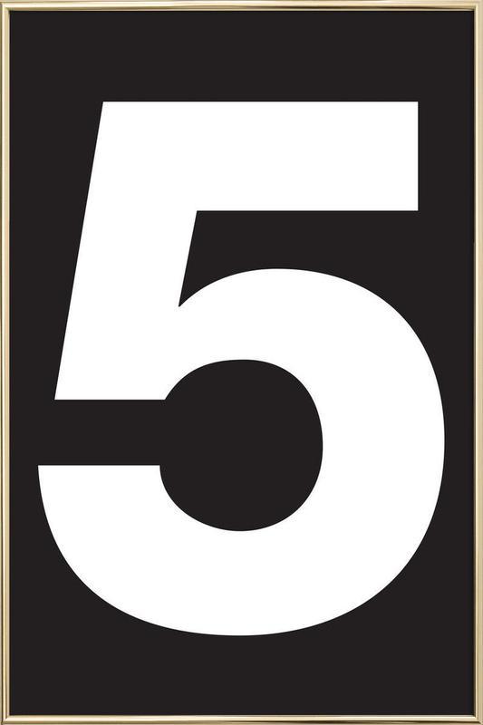 The 5 poster affiche sous cadre en aluminium