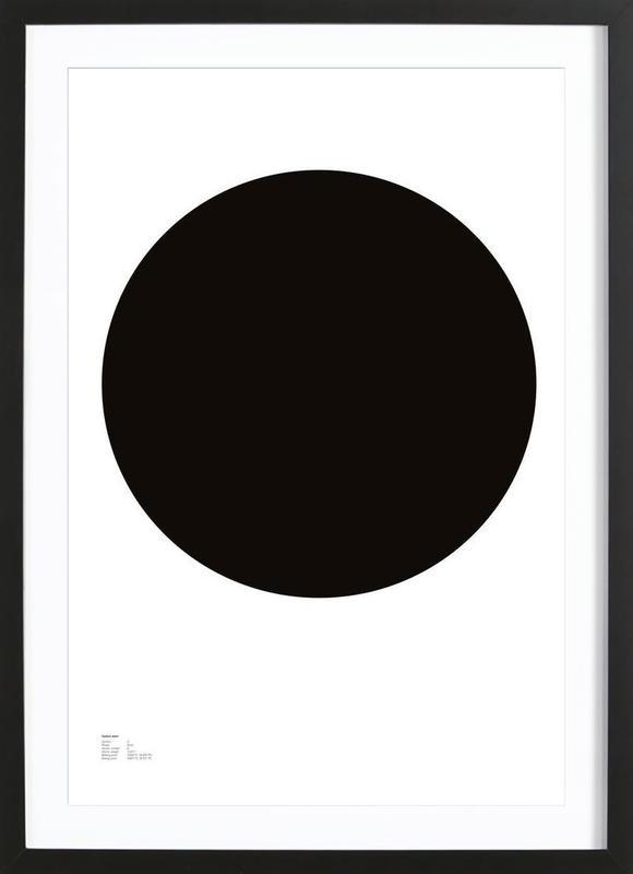 The Carbon Poster -Bild mit Holzrahmen