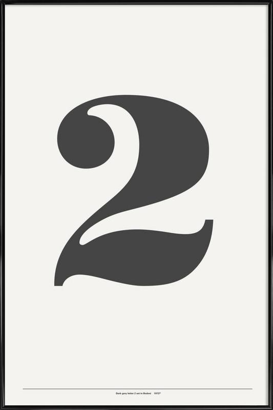 The 2 Poster in grey -Bild mit Kunststoffrahmen