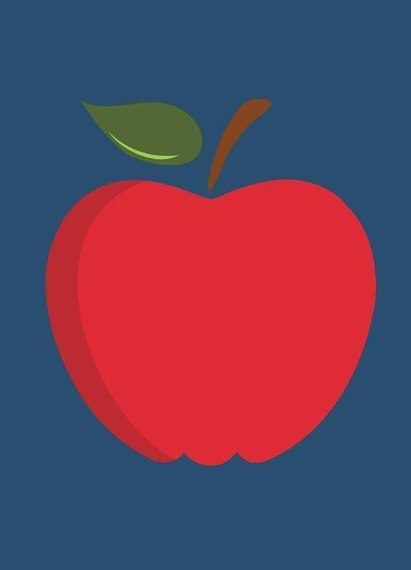 The Red Apple Poster toile