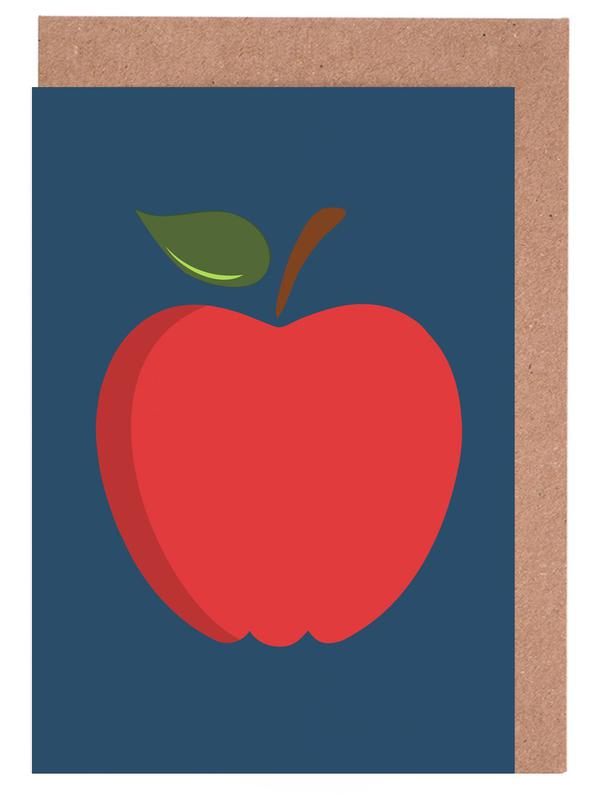The Red Apple Poster Greeting Card Set
