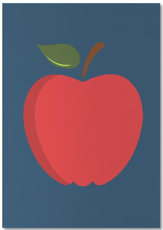 The Red Apple Poster -Notizblock