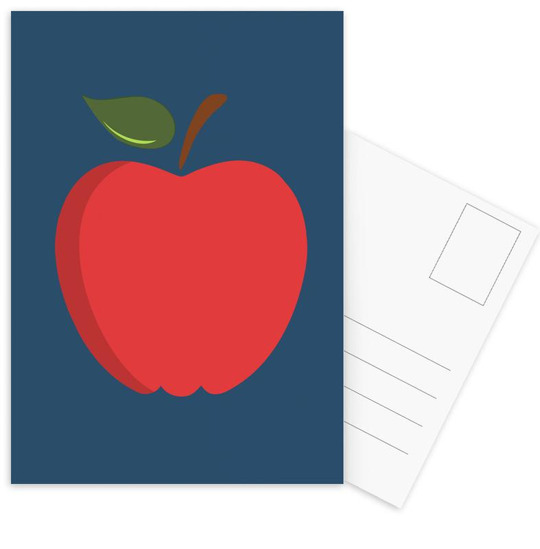 The Red Apple Poster -Postkartenset