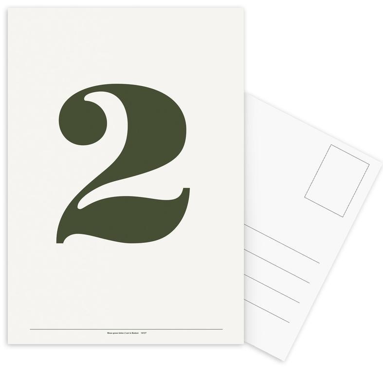 Zwart en wit, Cijfers, The 2 Poster ansichtkaartenset
