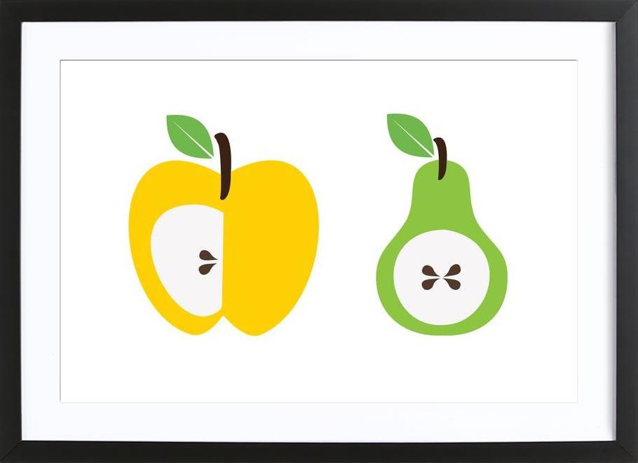 The Apple And Pear Poster ingelijste print
