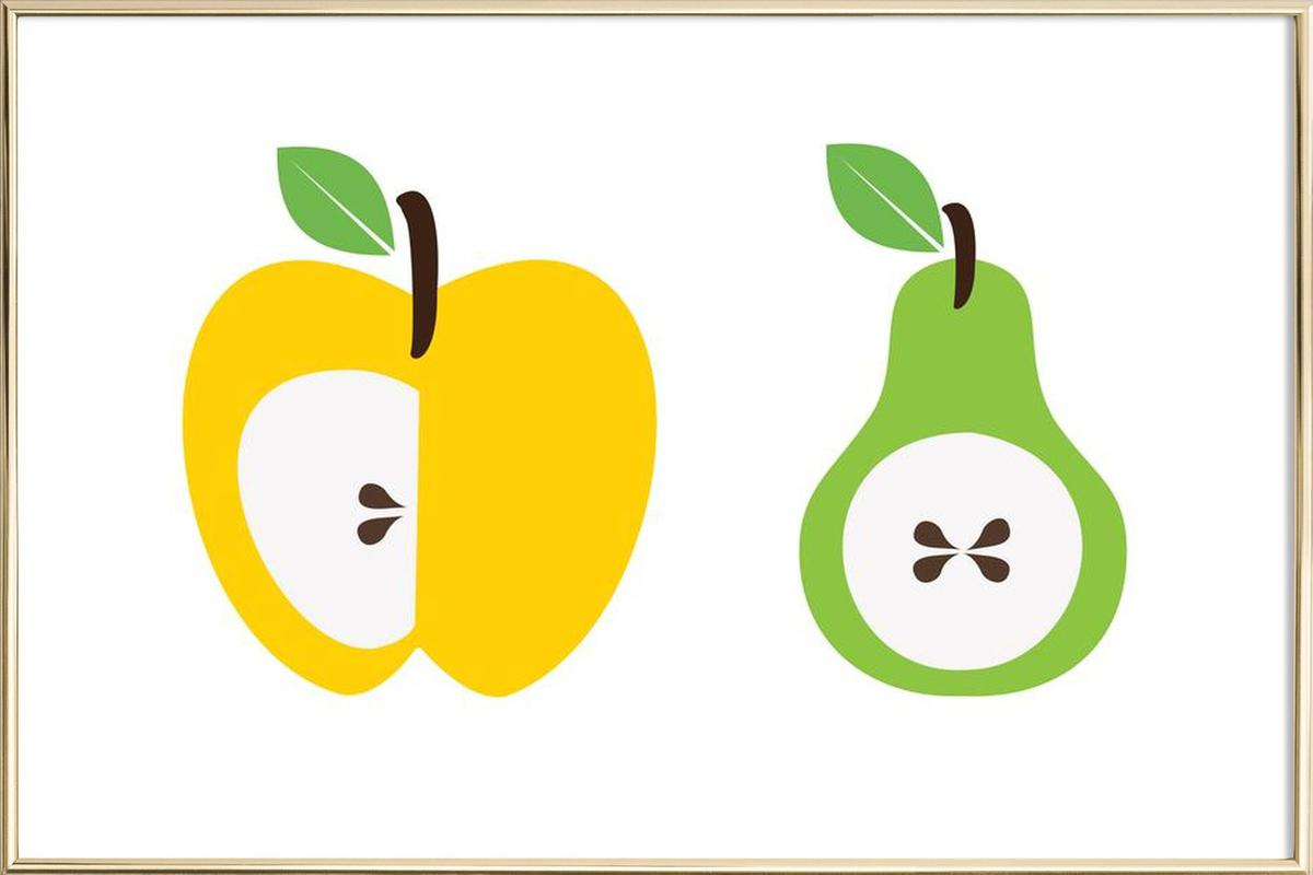 The Apple And Pear Poster affiche sous cadre en aluminium