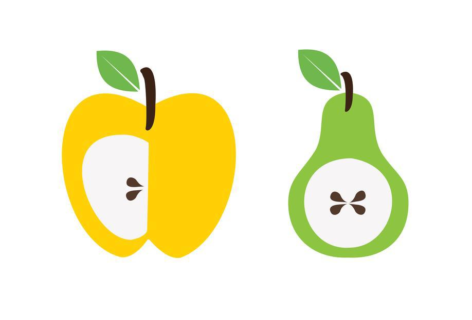 The Apple And Pear Poster alu dibond
